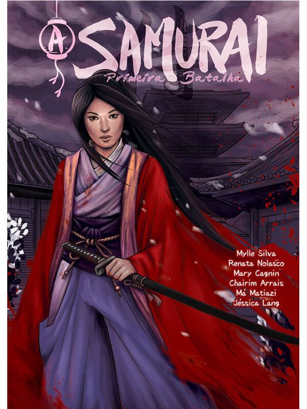 A Samurai: Primeira Batalha capa história em quadrinhos Mylle Silva
