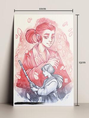 Print A5 A Samurai HQ por Caio Yo