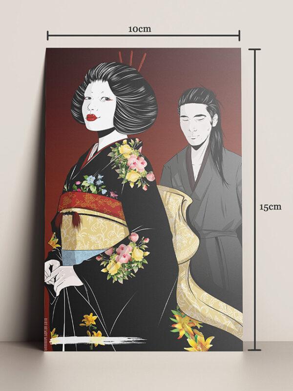 Print A5 HQ A Samurai ilustradora Chairim