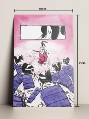 Print A Samurai HQ ilustração Mika Takahashi