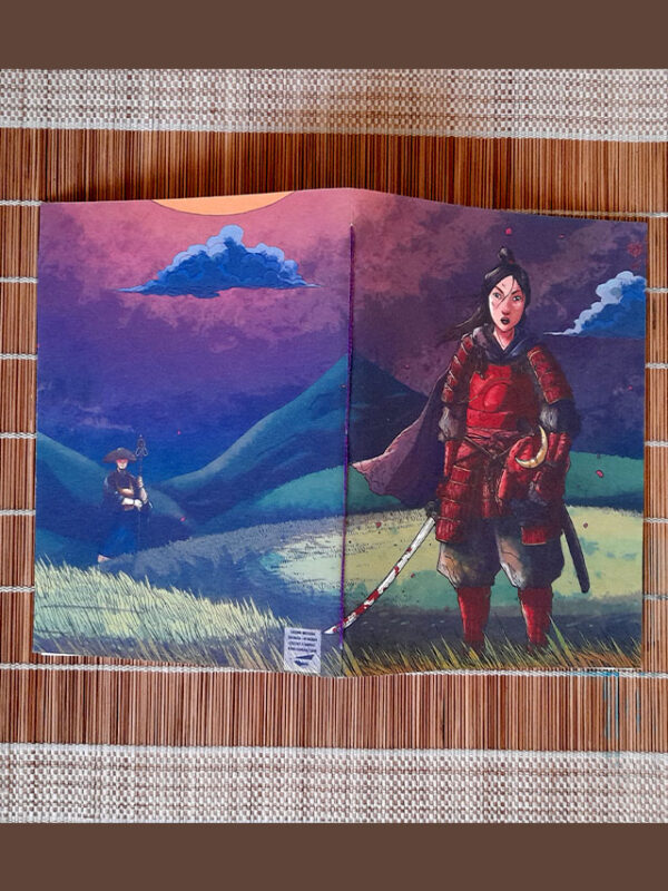 Caderno sketchbook brochura A5 A Samurai Guilherme Match