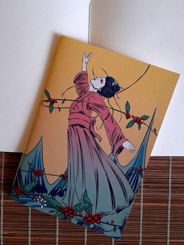 Caderno sketchbook brochura A5 Michiko no cafezal Marcio Gotland
