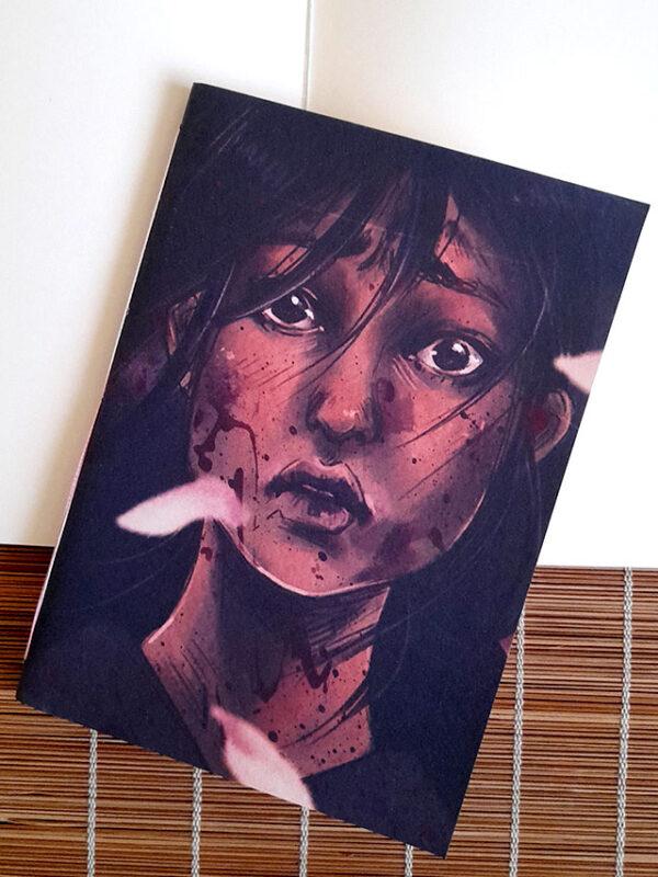 Caderno sketchbook brochura A5 Primeira Batalha Mary Cagnin